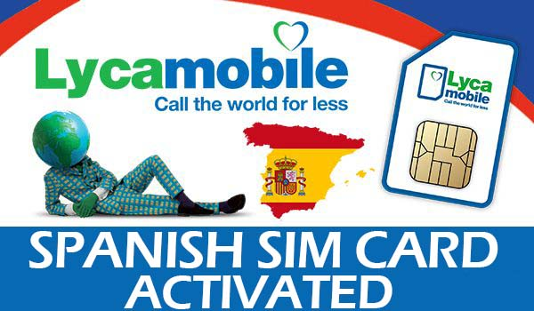 Lyca Mobile Spanish Activated SIM CARD Anonymous