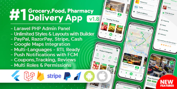 Food Ordering App Android Pharmacy, Store Source Code