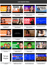 Learn Spanish Instant Mobile Video Site