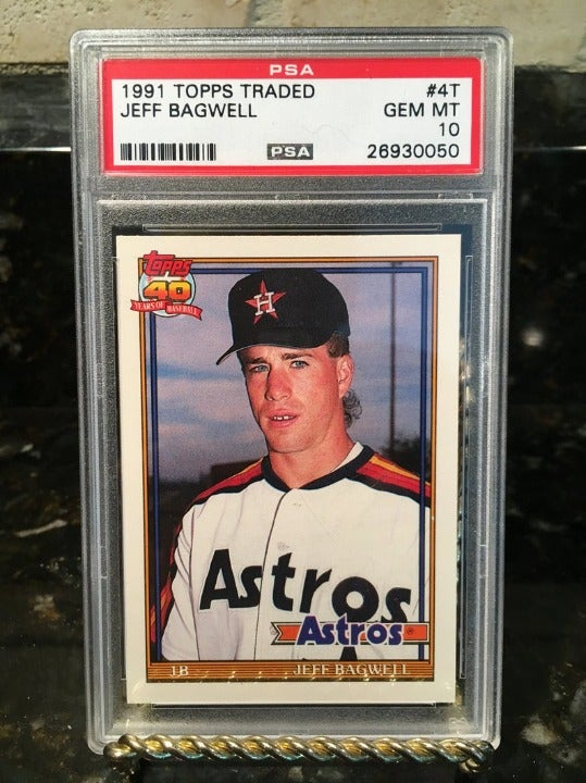 1991 Topps Traded Jeff Bagwell PSA 10 RC