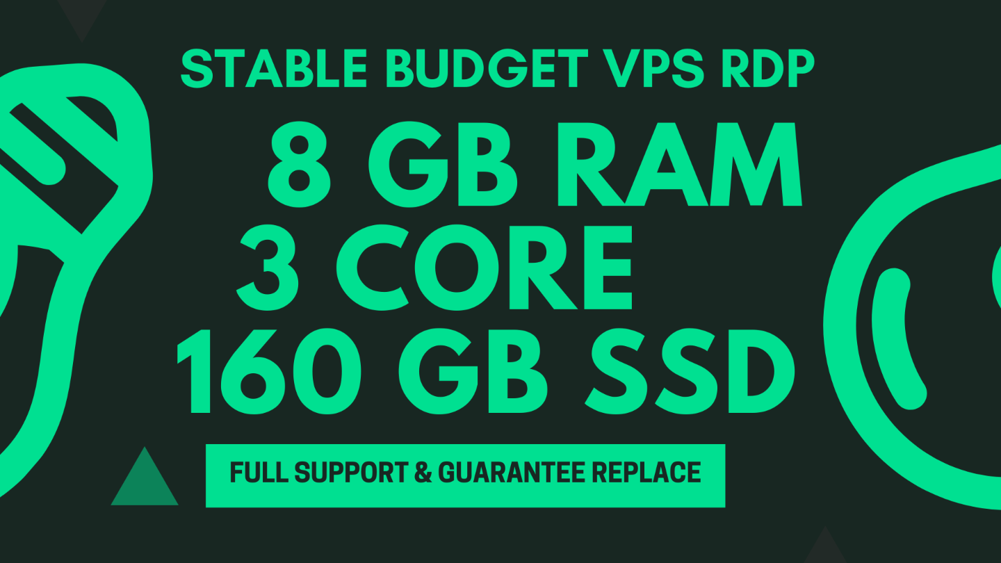Cheap VPS/RDP | 8 GB Ram | Promo 15 % | 6 months ??
