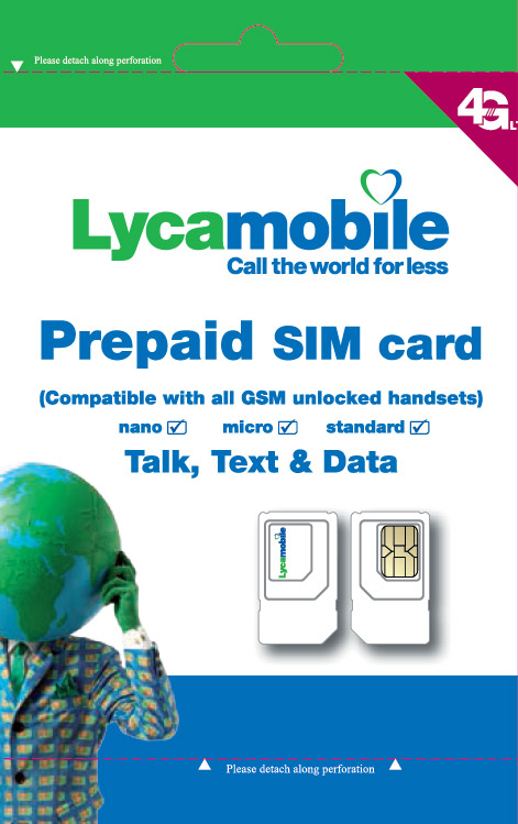 SIM Card Activated LycaMobile (NO ID / NO NAME)