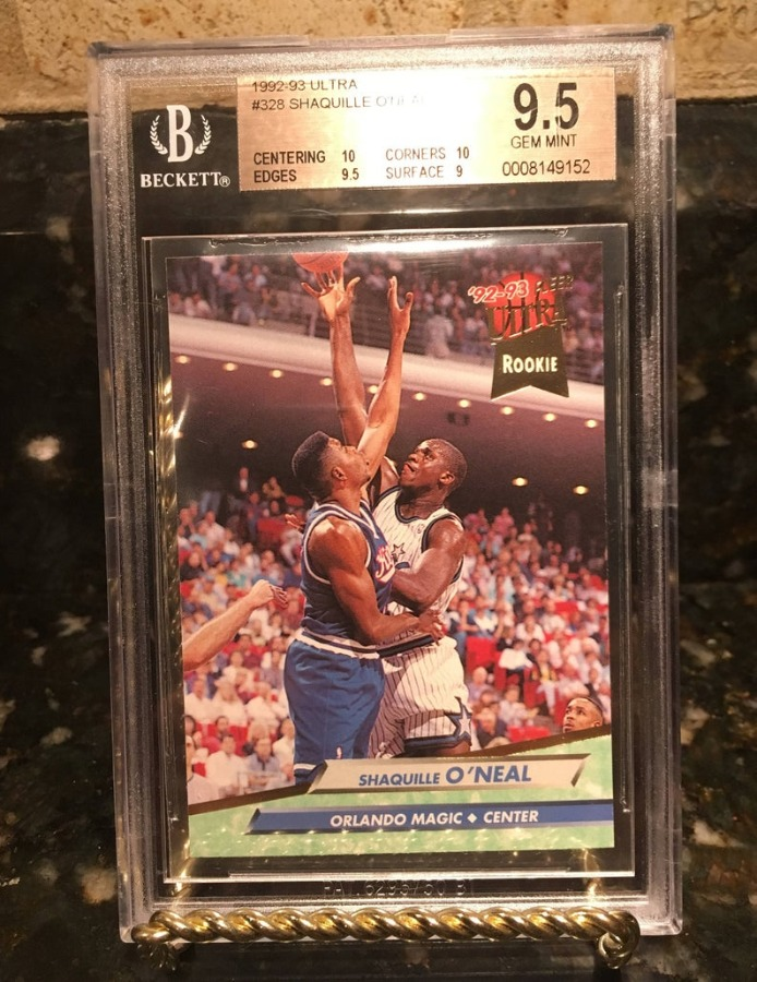 Shaquille O'Neal Rookie Card 1992-93 Ultra Bgs 9.5