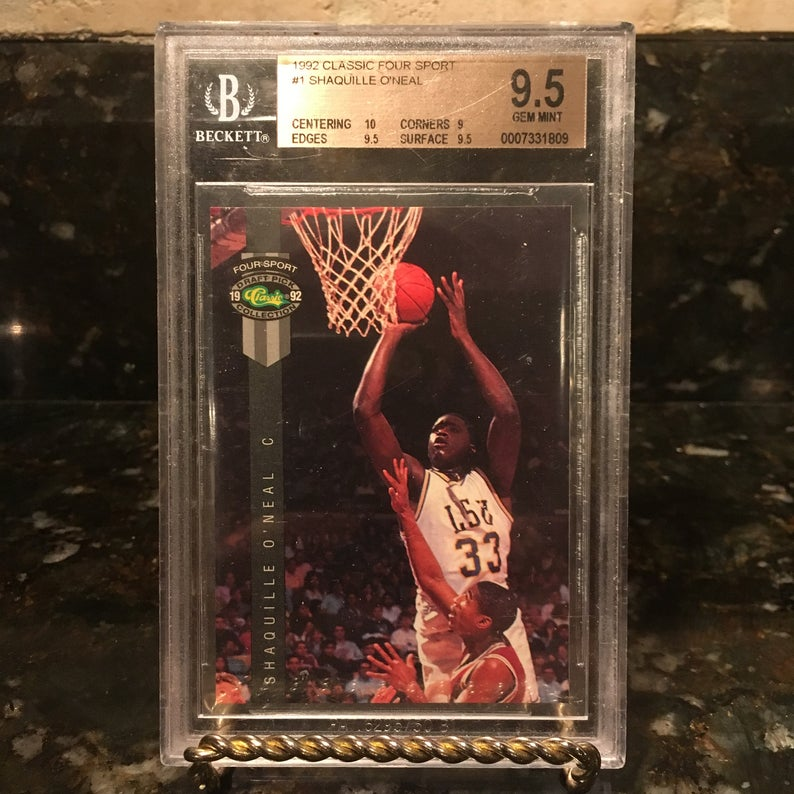 Shaquille O'Neal RC 1992 Classic Four Sport BGS 9.5
