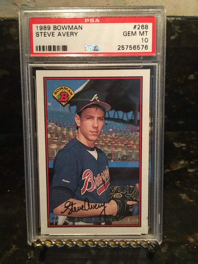 Steve Avery Braves 1989 Bowman RC Rookie Card Psa 10