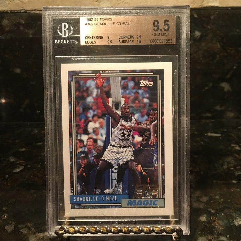 Shaquille O'Neal Rookie Card 1992 Topps BGS 9.5