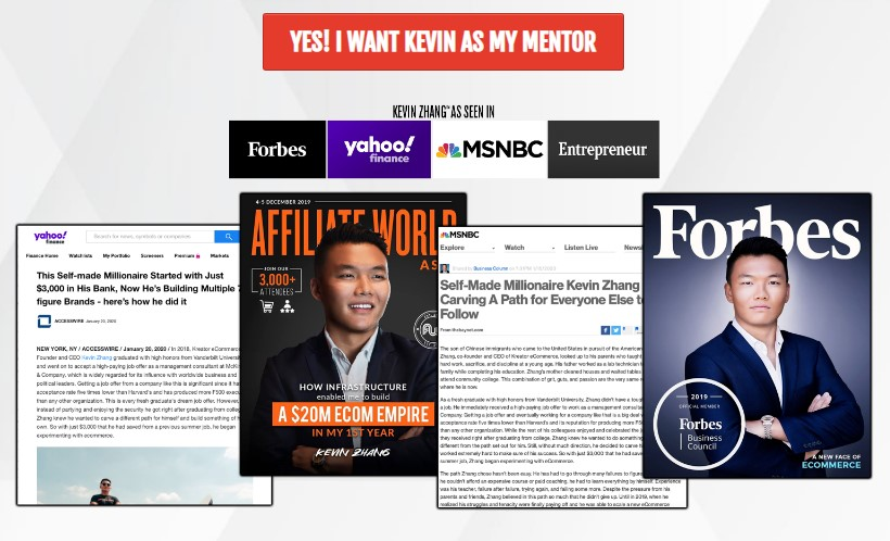 Ecommerce Millionaire Mastery -  Kevin Zhang [$2,000]