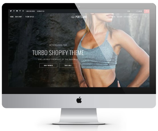 Turbo Theme Portland - Shopify Out of the sandbox [$350