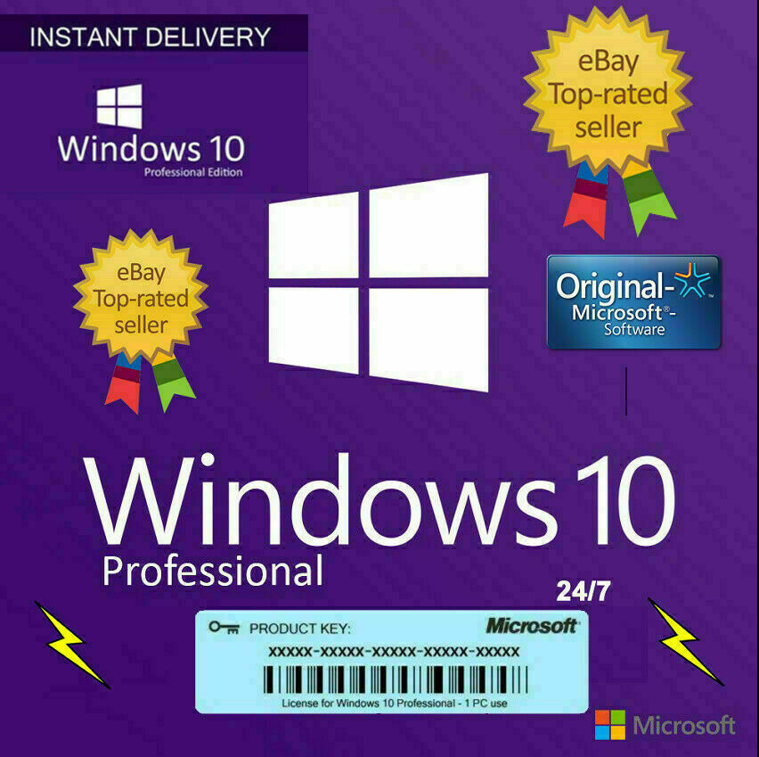 WINDOWS 10 PRO PROFESSIONAL GENUINE 🔑 LICENSE �...