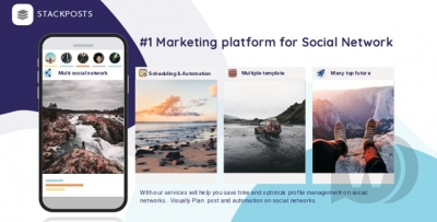 Stackposts v7.0.5 – Social Marketing Tool + Modules