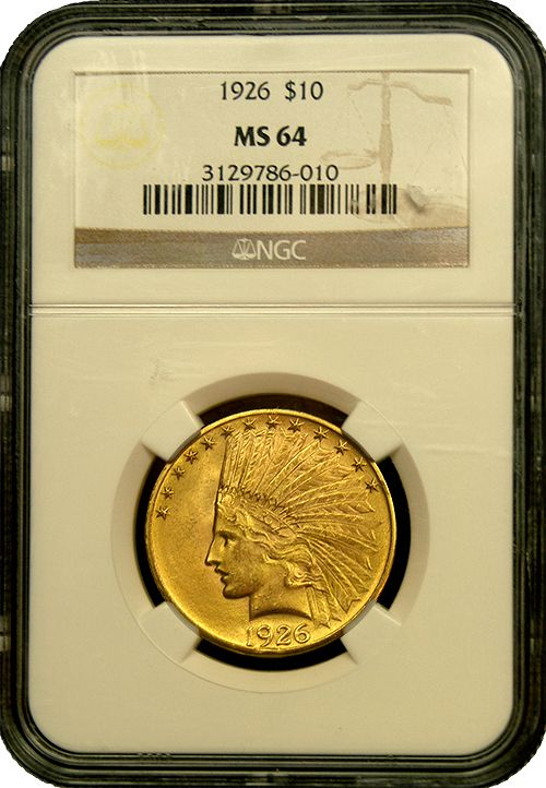 $10 Indian Gold MS-64 Quality