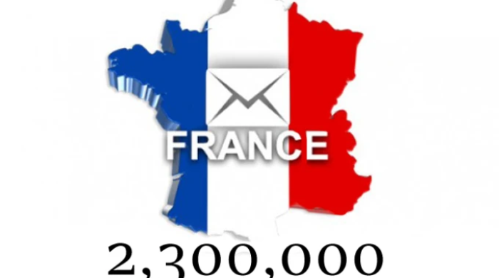 2.4 million france updated emails + 79k with names