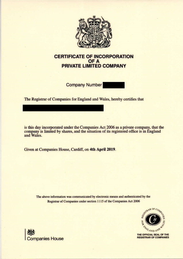 Limited company 2019 with VAT number! - United Kingdom