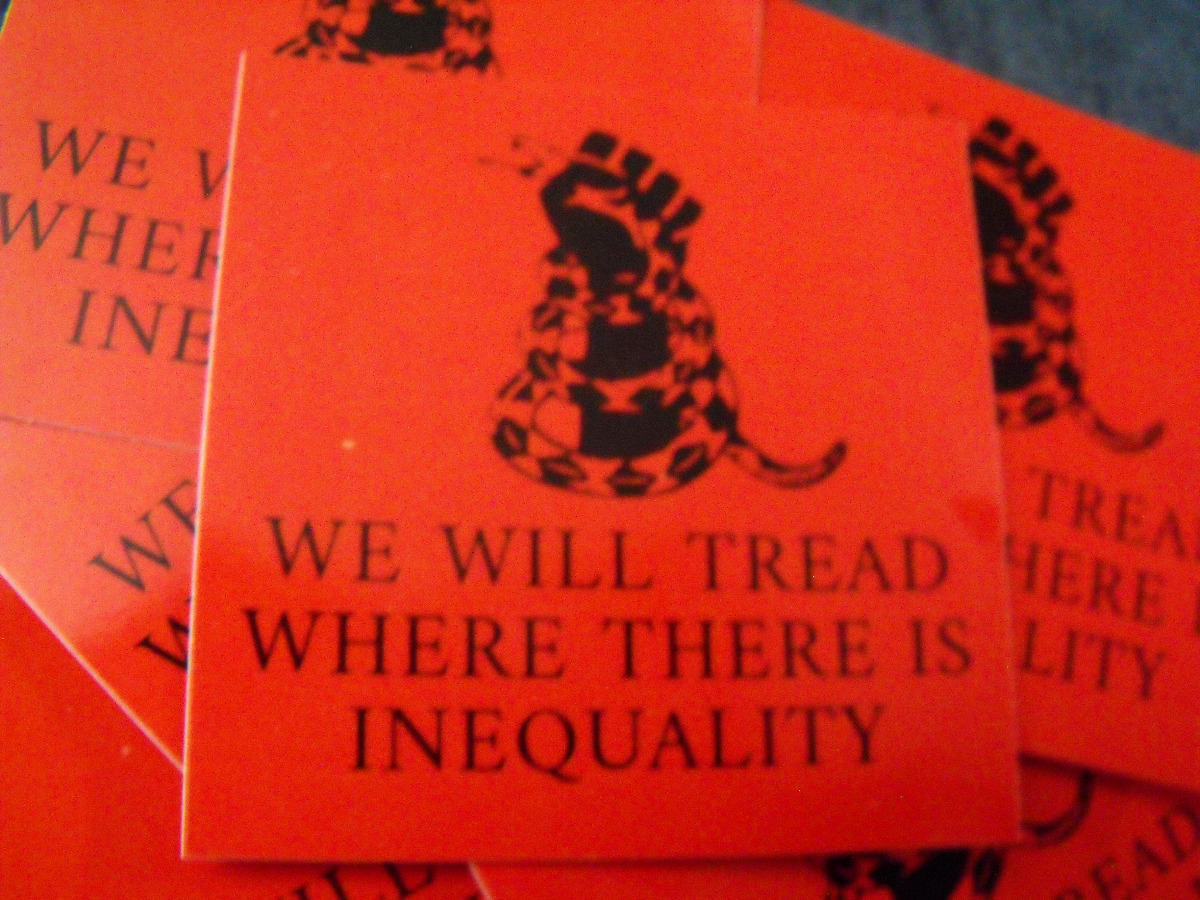 """300 WE WILL TREAD WHERE THERE IS INEQUALITY 2.5""""..."""