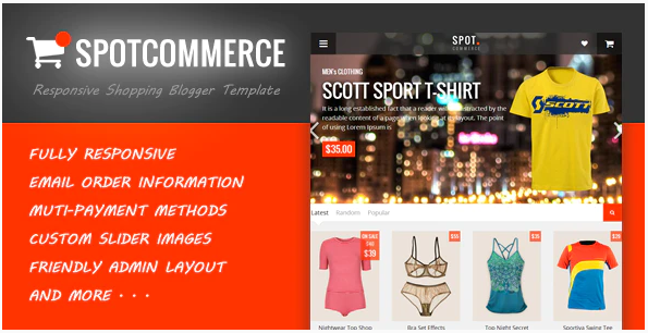 Shopping Theme SpotCommerce - Blogger