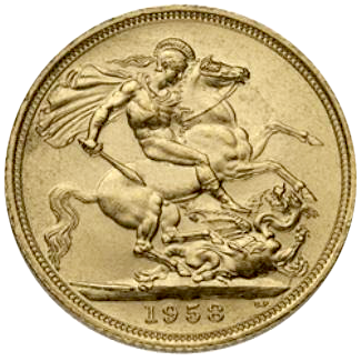 Queen Elizabeth British Gold Sovereign