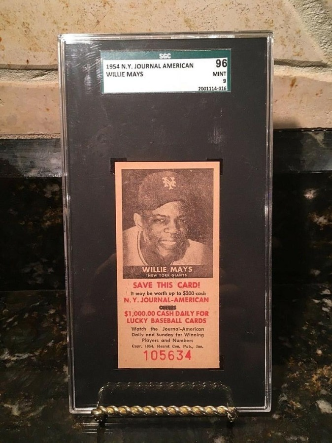 1954 New York Journal American Willie Mays SGC 96 MINT
