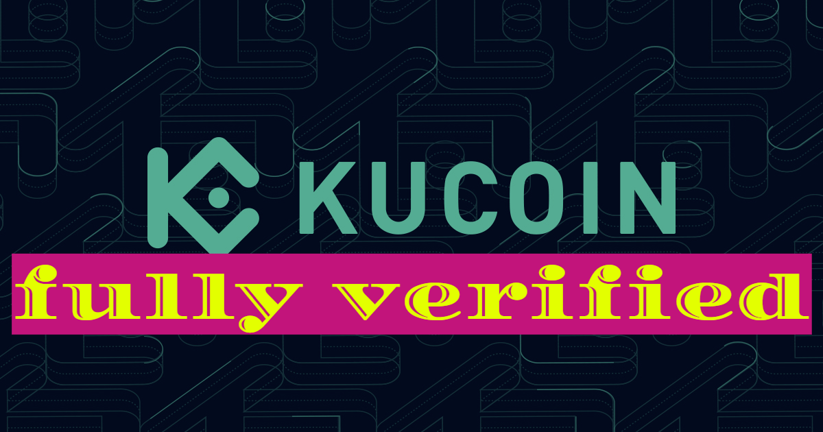 Kucoin fully verified account