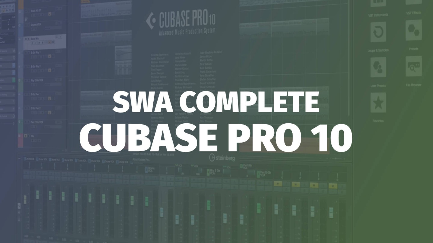Course Audio Swa Complete Cubase Pro 10 TUTORiAL