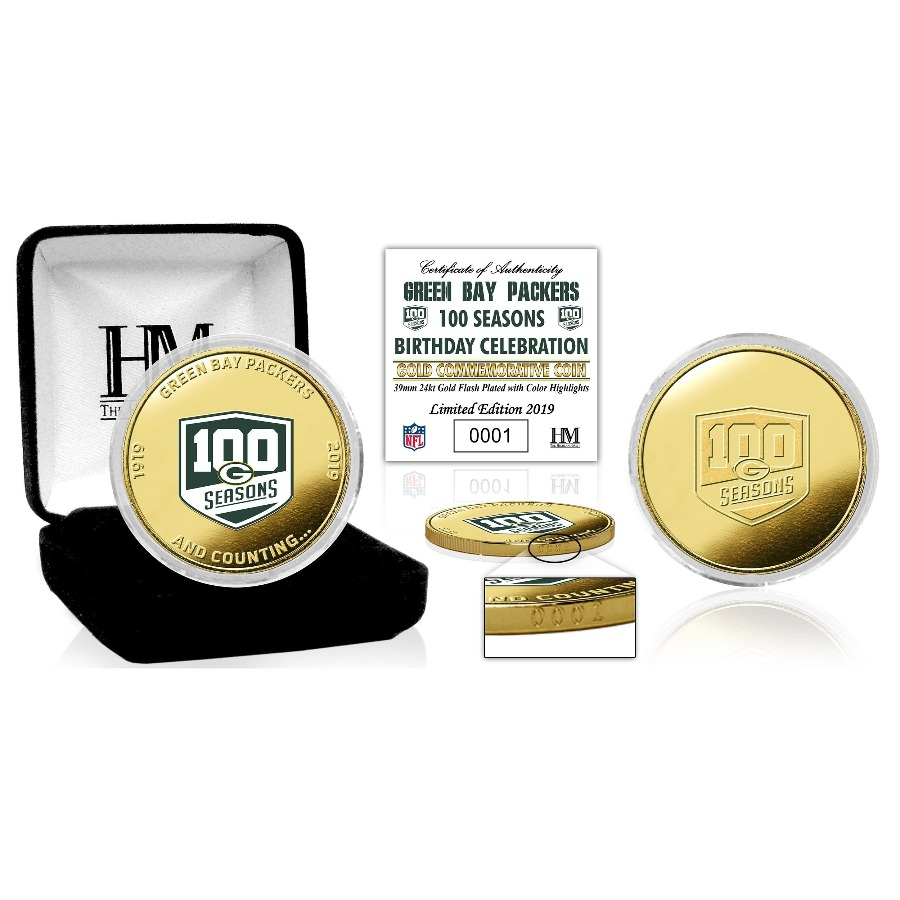 *1 of only 2,019* Rare Green Bay Packers 100 Year Coin