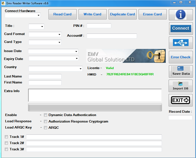 EMV Reader/Writer v8.6  Software
