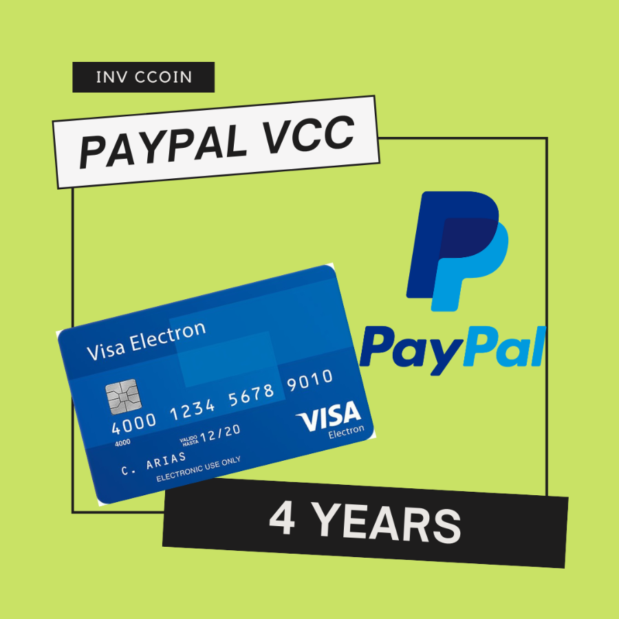 VCC for Paypal Verification for 4 years, Fast Delivery