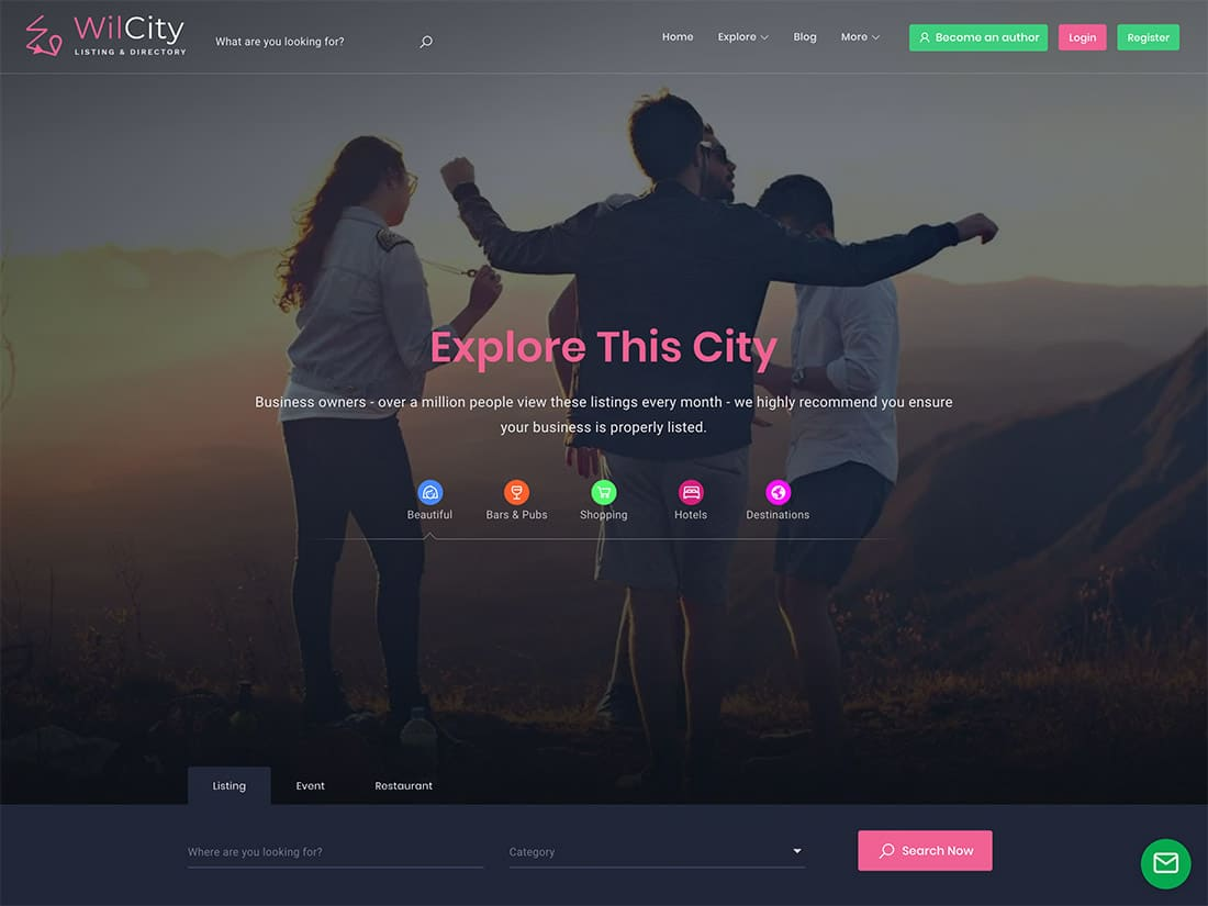 Wilcity - Listing theme | Almost free listing theme