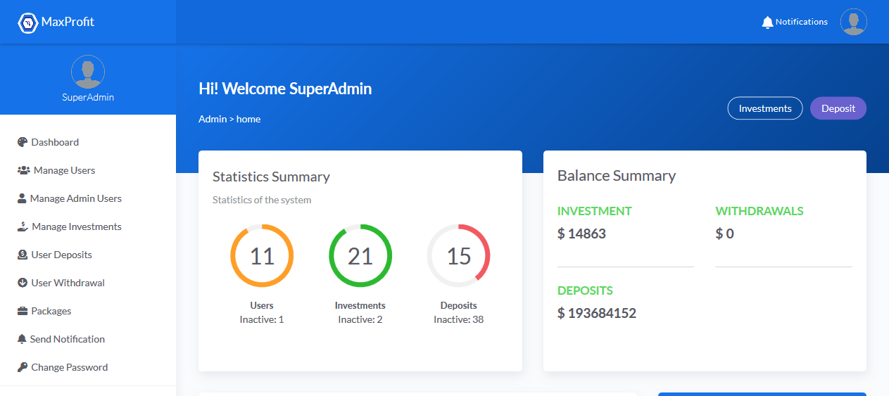 Start your Own Bitcoin Investment website