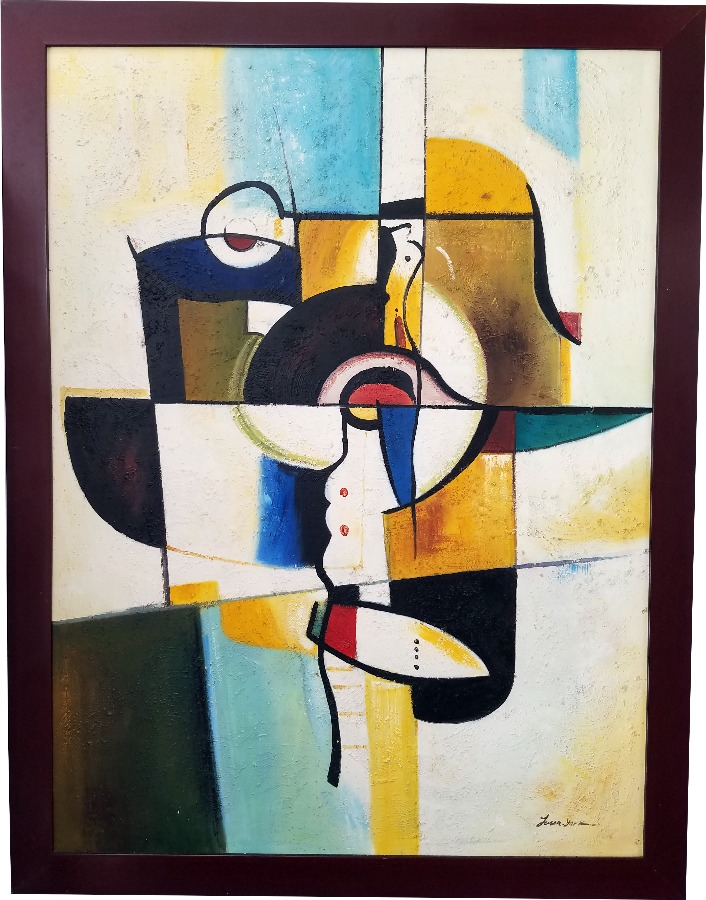 Jason York Signed Original Abstract Oil Painting