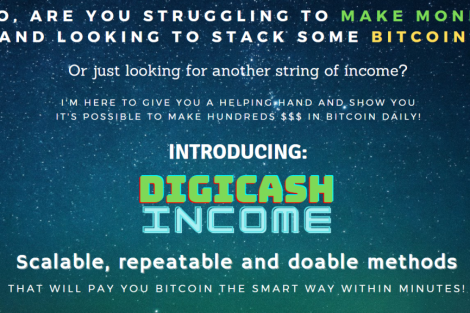 Digicash Income - Earn hundreds in Bitcoin - 2 simple p