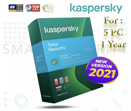Kaspersky Total Security 2021 New Version 5 PC 1 Year