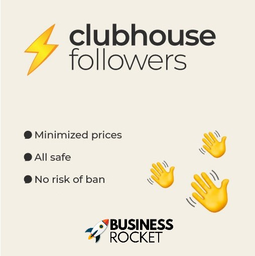 ClubHouse 👋 - 100 HQ CLUB Followers [NEW] Only $14