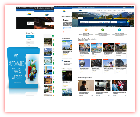 100% AUTOMATED!  SELF UPDATING AFFILIATE WP TRAVEL SITE