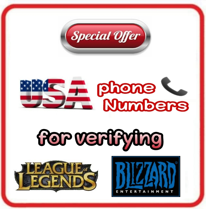 USA Numbers 📞 for Verifying League of legends Bli...