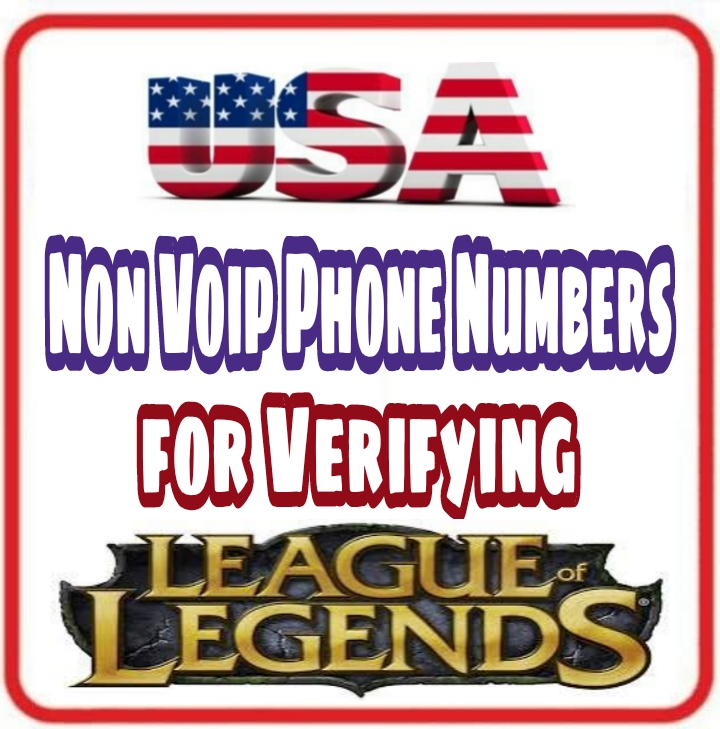 USA Non Voip Numbers 📞 for Verifying League of le...
