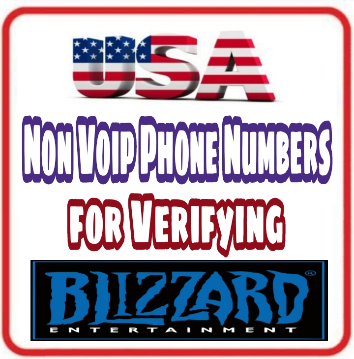 USA Non Voip Numbers 📞 for Verifying Blizzard Acc...