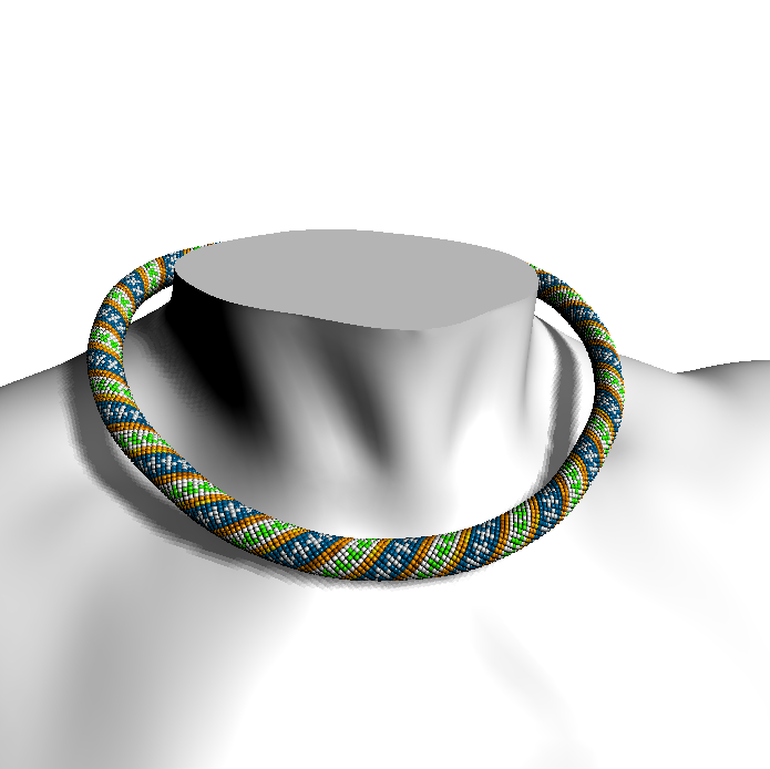 Ethnical (beaded rope pattern)