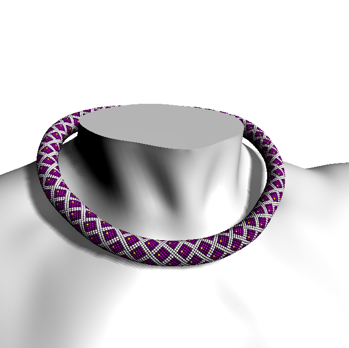 Rhombs with Dots (beaded rope pattern)