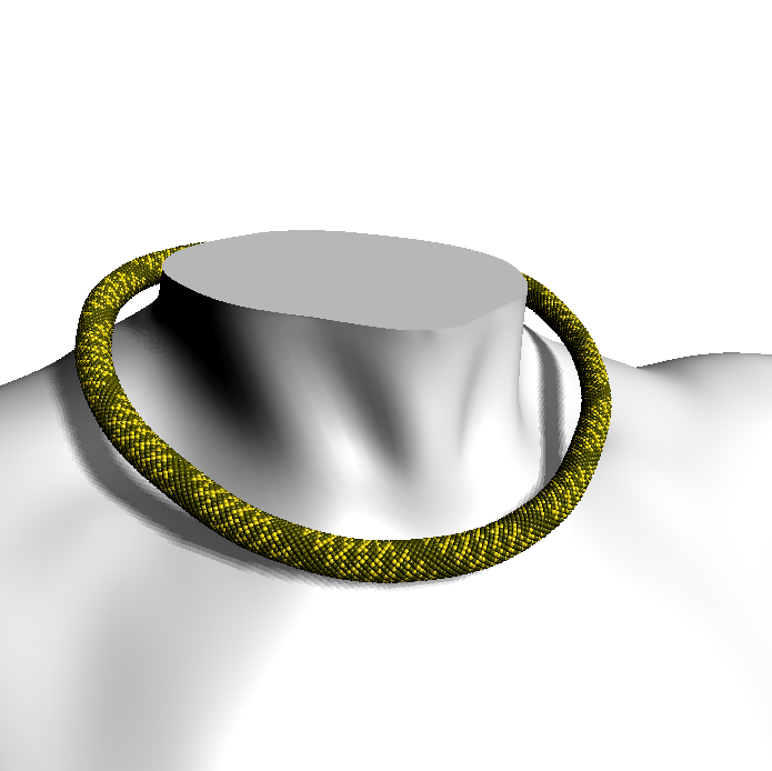 Spiral Chain (beaded rope pattern)