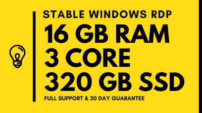 Cheap Vps/Rdp |16 GB Ram| FAST DELIVERY | 1 Month 23...