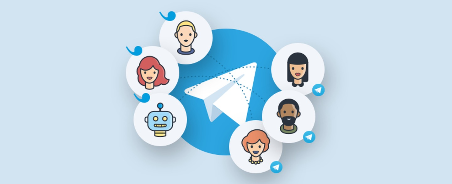 24 hours Telegram chat activity with 5 real accounts