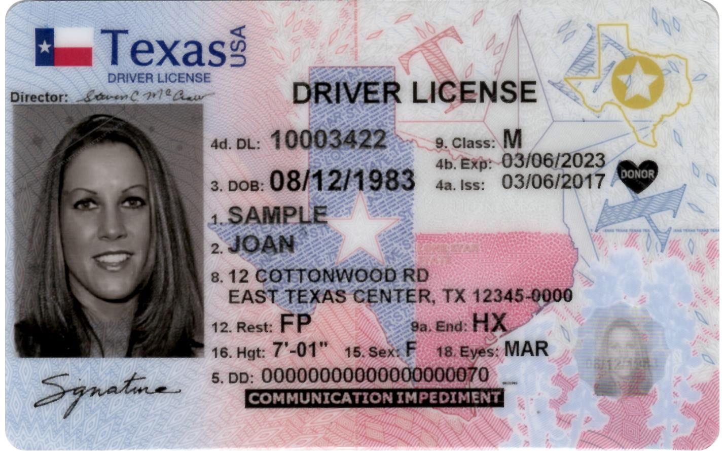 USA SSN & STATE ID.psd Scan Package