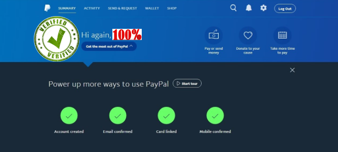 PayPal acc (Full verified)