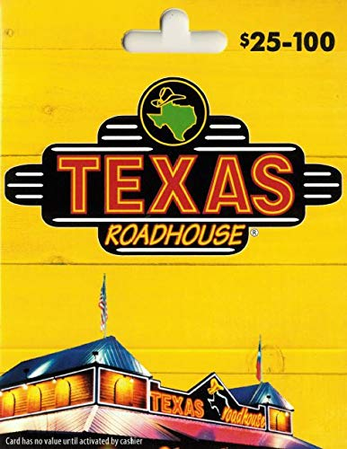 Texas Roadhouse gift card 1000$(total) GIFT+PIN