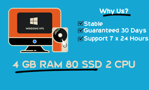 Cheap Vps/Rdp | 4 GB Ram | FAST DELIVERY | 1 month 9...