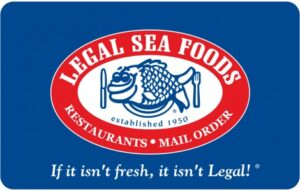 Legalseafoods Gift card 200$