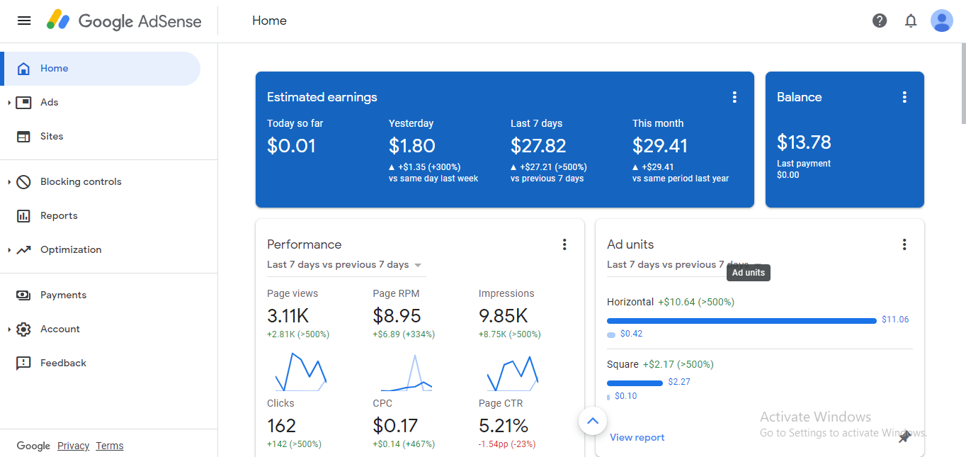 Pin Verified USA Adsense Account For Sale With $40+