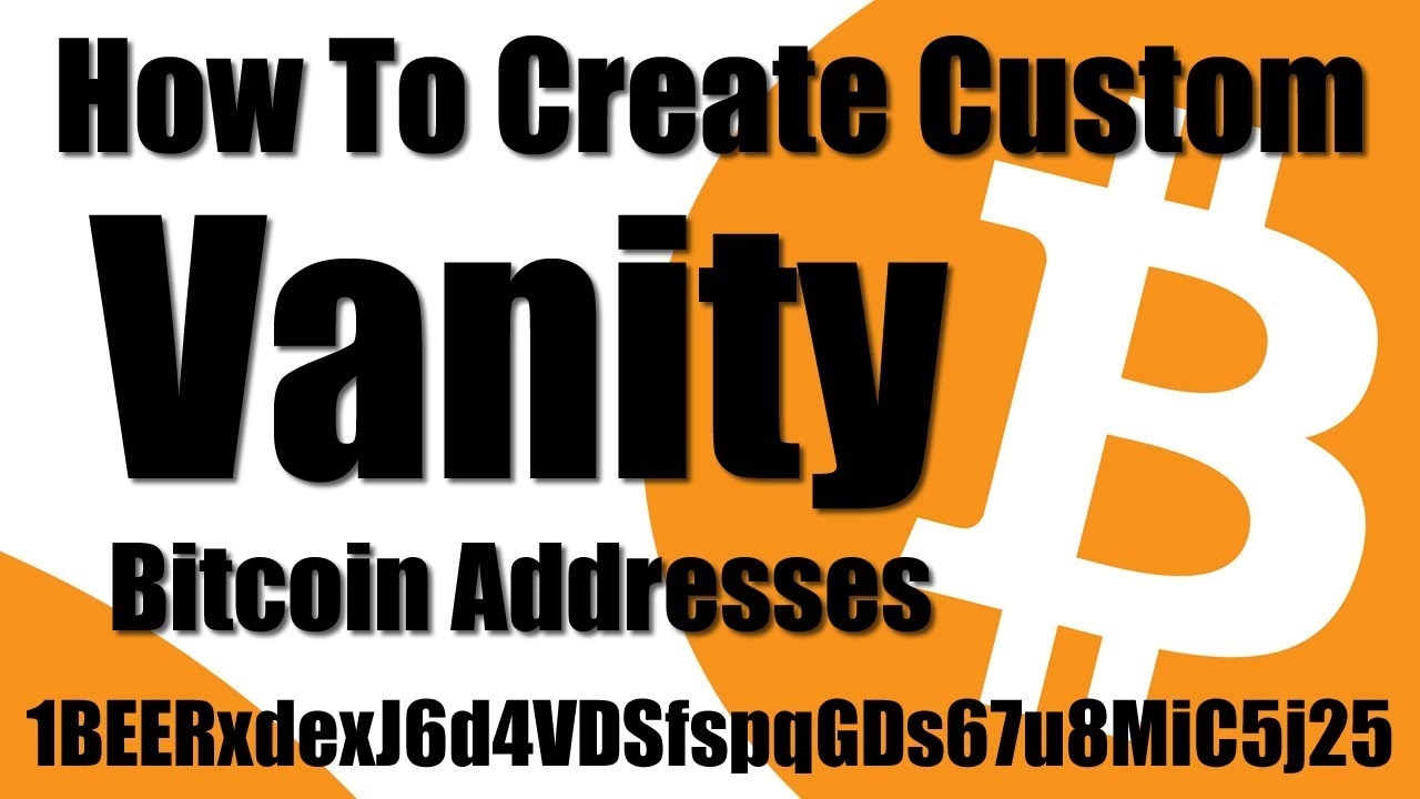 How To Make A Custom Bitcoin Address Wallet (INSTANT)