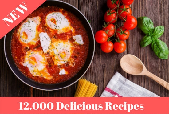 Ultimate Pack Of 12.000 Food Recipes With resell rights