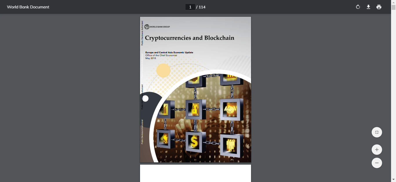 Cryptocurrencies and Blockchain World Bank Group